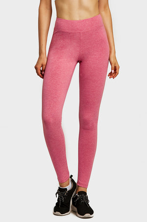 SOFRA LADIES COTTON LEGGINGS (WP4000_H.RED)