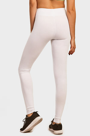 Load image into Gallery viewer, COTTONBELL LADIES COTTON LEGGINGS (WP4000C_WHITE)