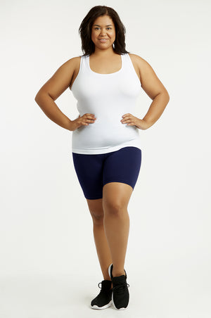 COTTONBELL COTTON 15 INCH LEGGING SHORTS PLUS SIZE (WP4015XC_NAVY)