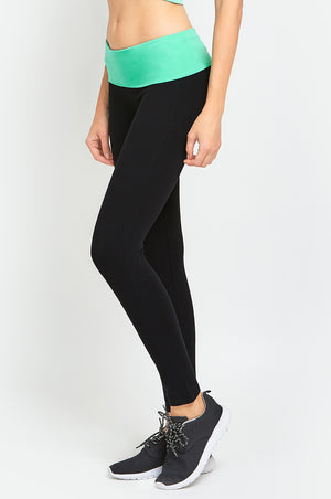 Load image into Gallery viewer, MOPAS LADIES TWO-TONE YOGA LEGGINGS (YP1002)
