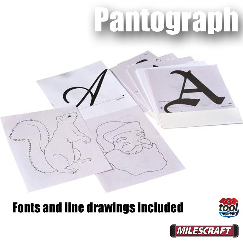 1221 Milescraft Pantograph Pro example letters and images
