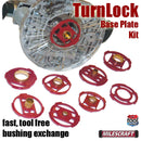 1261 Milescraft TurnLock Base Plate Kit and bushing set