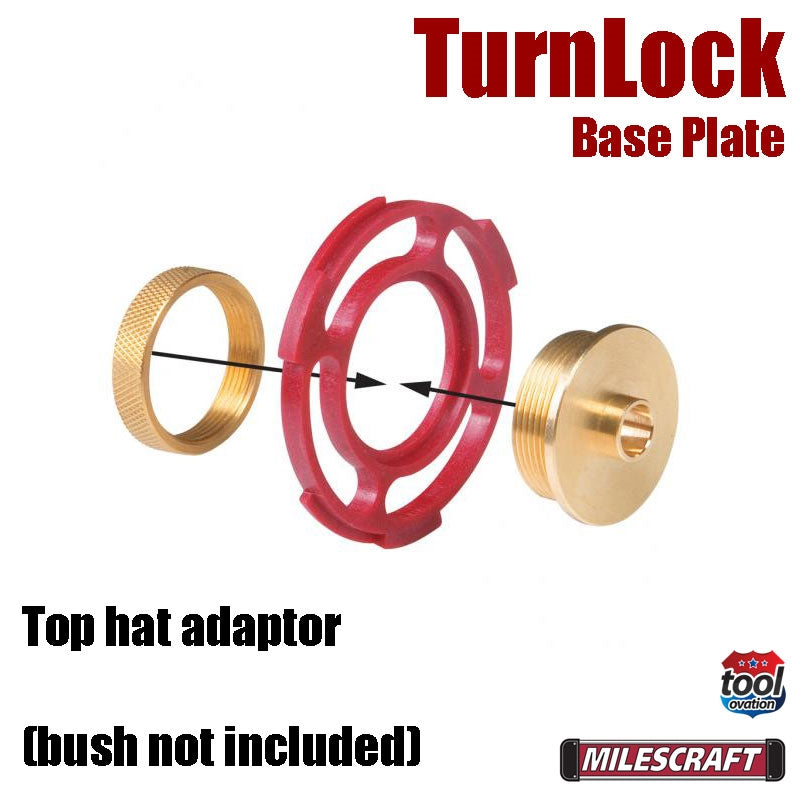 1261 Milescraft TurnLock Base Plate top hat adaptor