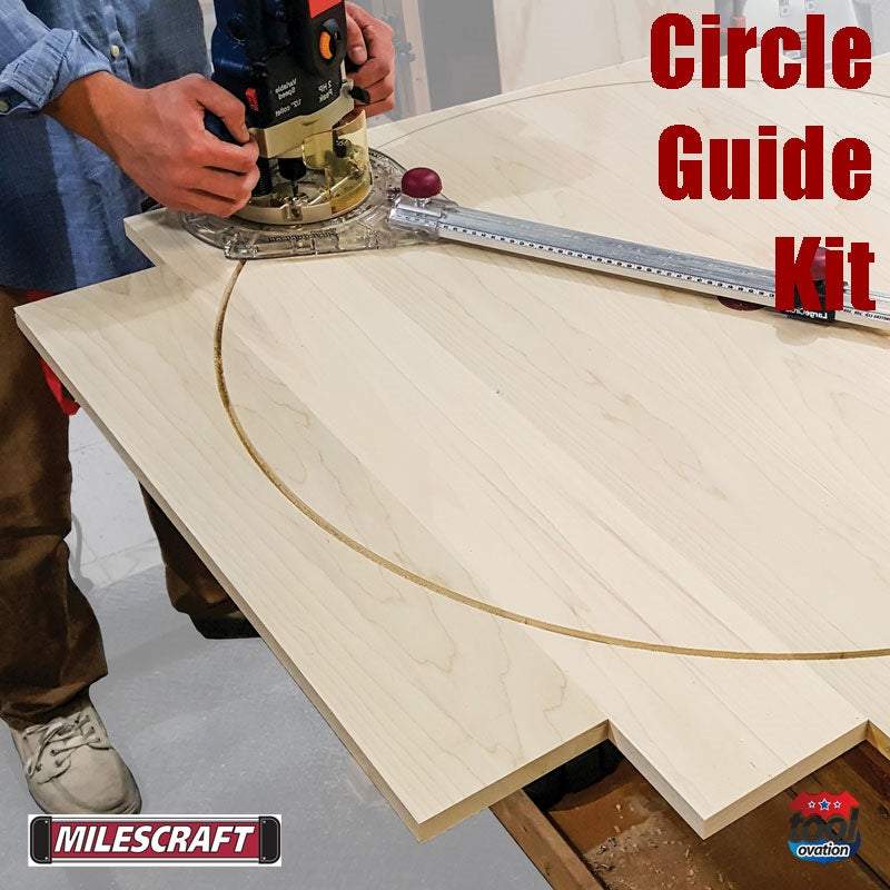 1269 Milescraft Circle Guide Kit example cutting a large circle