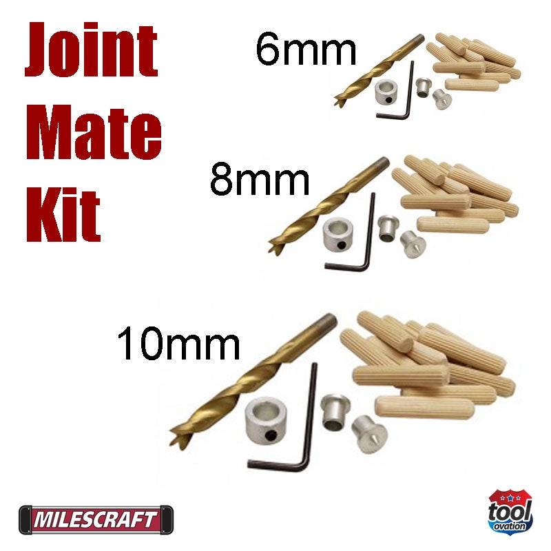 1359 Milescraft Joint Mate Kit drill bit and dowel sizes