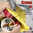 1405 Milescraft Crown 45 Mitre Saw Jig use with circular saw