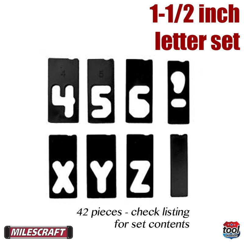 2202 Milescraft 1-1/2 in. Horizontal Letter Set example templates