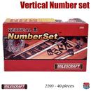 2203 Milescraft 1-1/2 & 2-1/2 inch Vertical Number Set