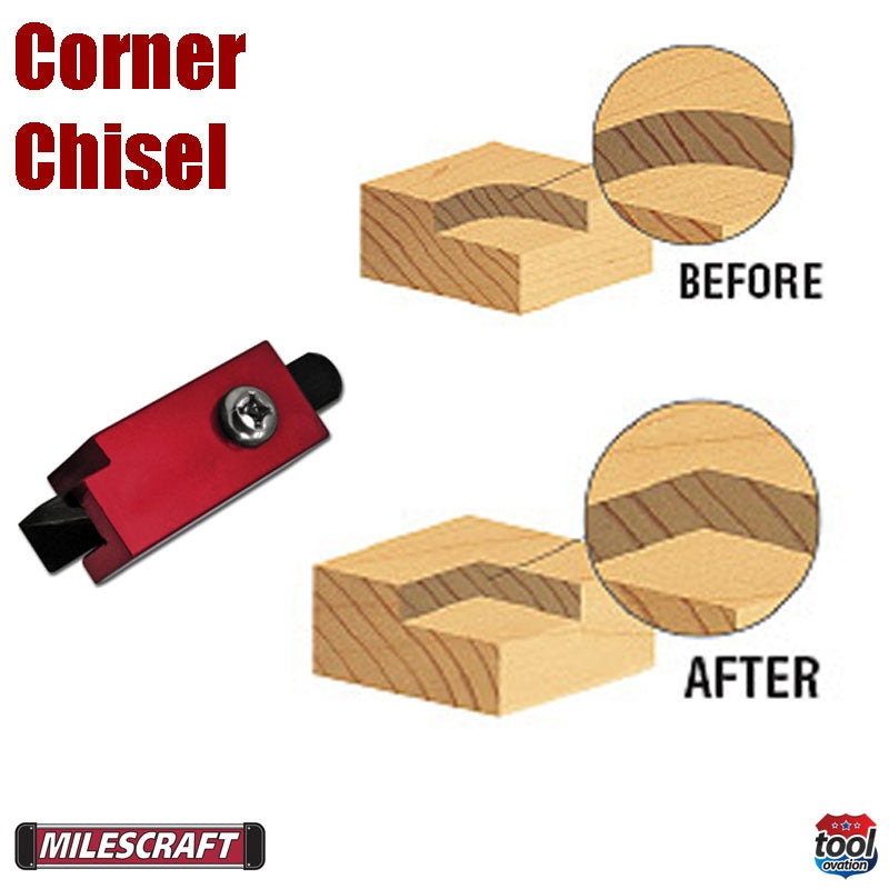 2220 Milescraft Corner Chisel example before and after images