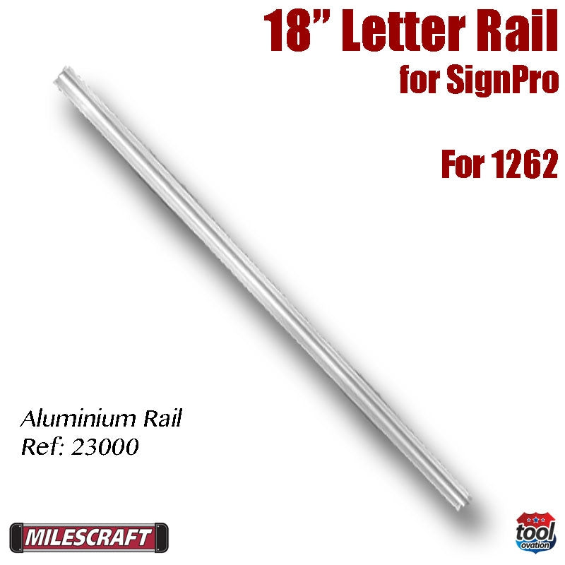 Letter Rail - 18 inch Aluminium (single)