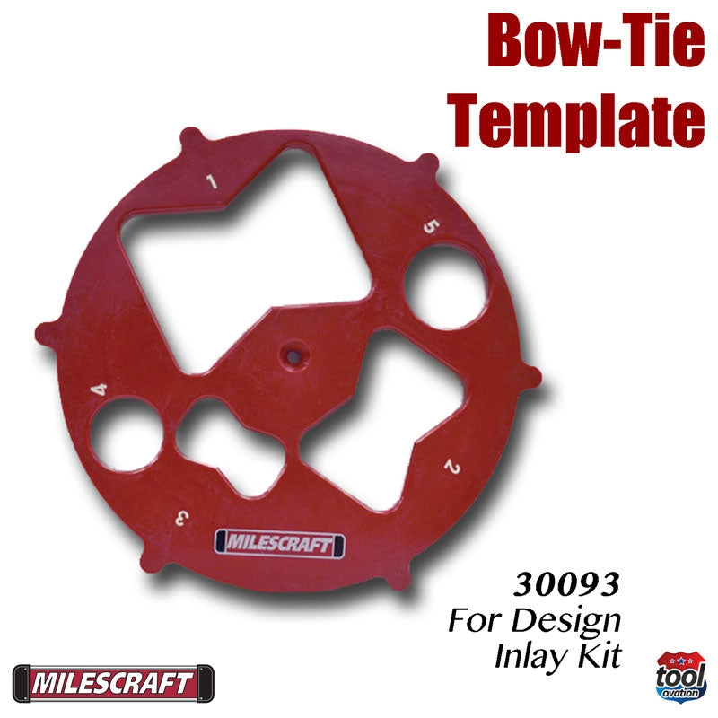 Bow - Tie Template - for Design Inlay Kit