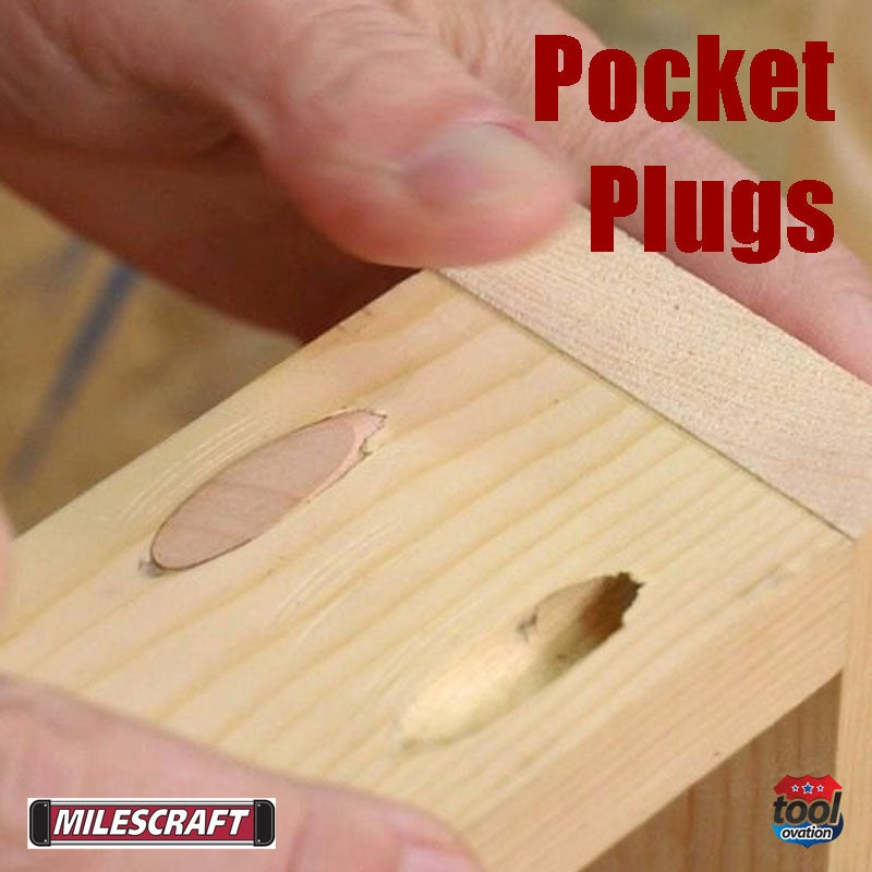 5345 Milescraft Pocket Hole Plugs - Paint Grade - example application to pocket hold