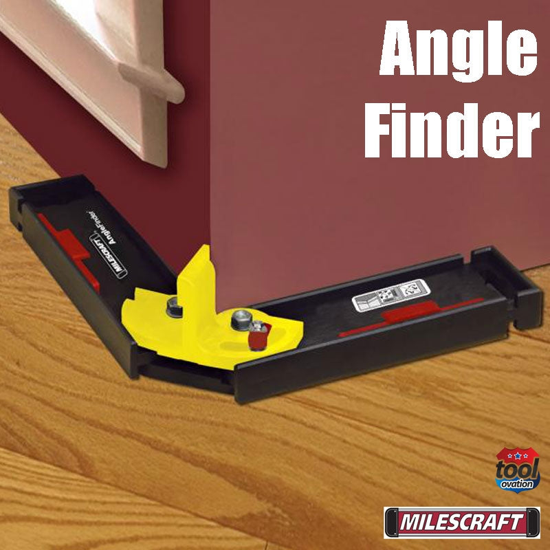 8402 Milescraft Angle Finder - example measuring wall angle