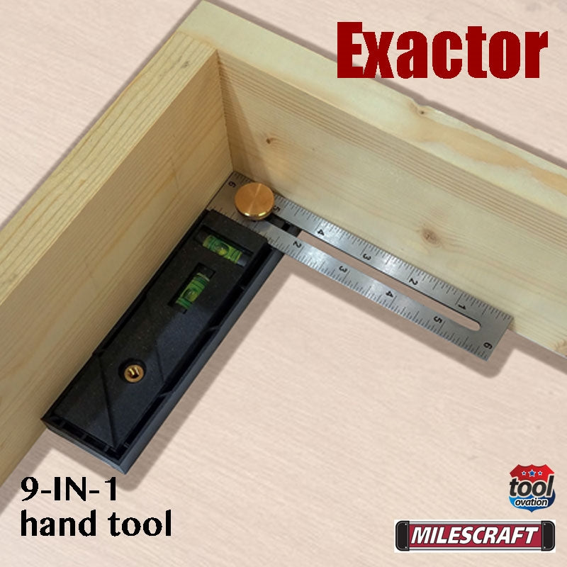 8406 Milescraft Exactor 9 in 1 hand tool - inner 90 degree measurements