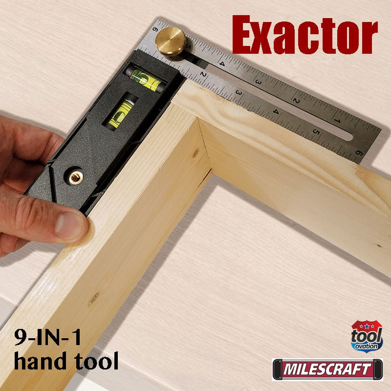 8406 Milescraft Exactor 9 in 1 hand tool - outer 90 degree measurements