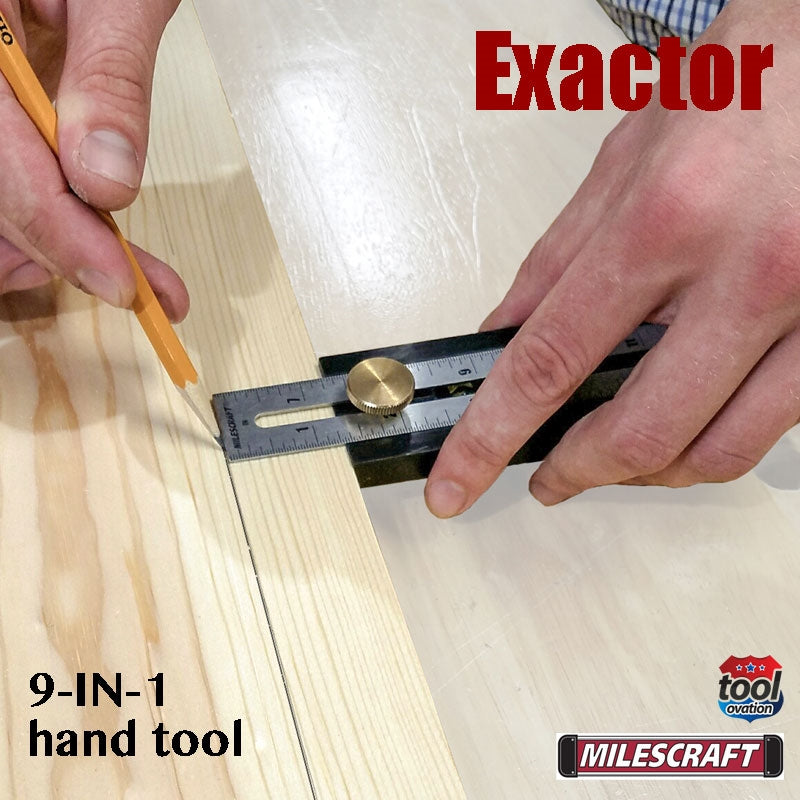 8406 Milescraft Exactor 9 in 1 hand tool - depth gauge