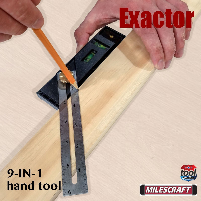 8406 Milescraft Exactor 9 in 1 hand tool - 45 degree miter measurements