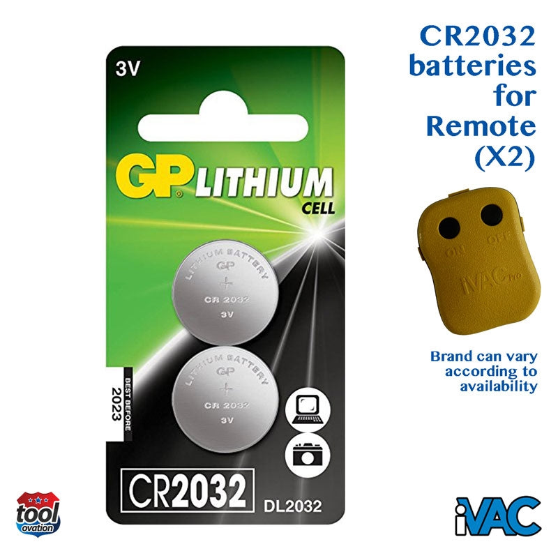 CR2032 batteries (2) for Pro Remote