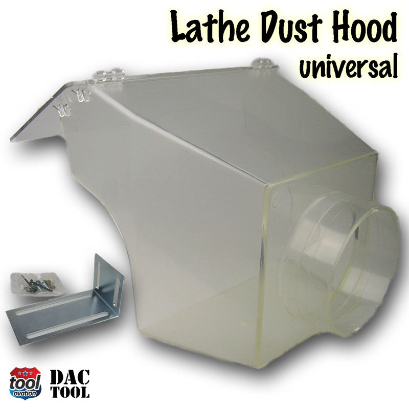 DAC1078 Lathe Dust Hood - 8 by 8 inches - box contents