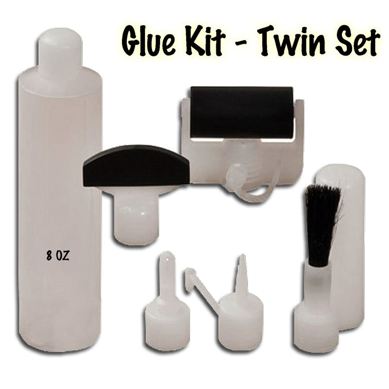 DAC1900 Complete Glue Kit - Twin Pack - contents, one glue bottle and 5 glue heads