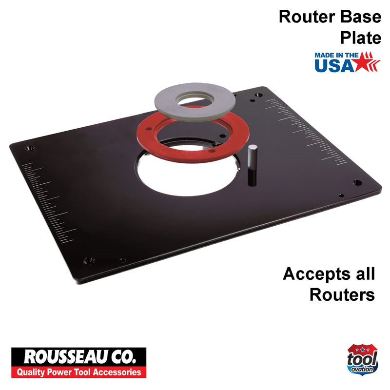 Rousseau Model 3509 Deluxe Router Base Plate