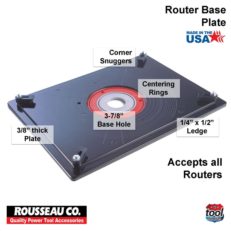 Rousseau Model 3509 Router Base Plate  technical information and items
