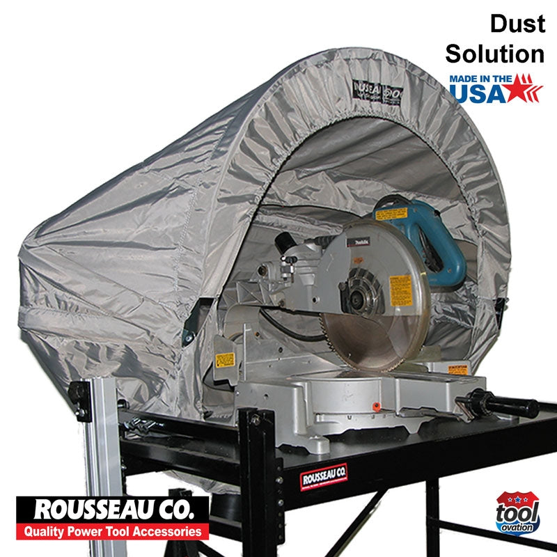 DAC5000 Rousseau 500 Dust Solution for Mitre Saws - pops-up for quick and easy installation
