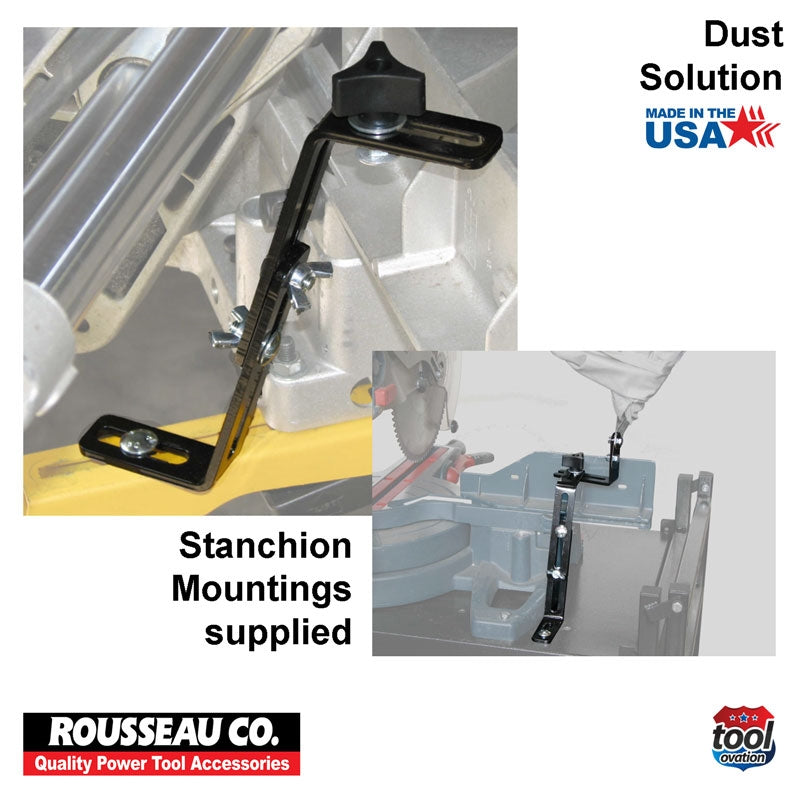 DAC5000 Rousseau 500 Dust Solution for Mitre Saws - stanchion mountings supplied
