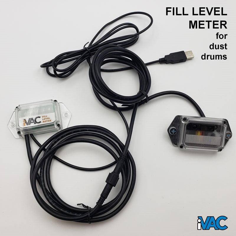 FLM_EUK_USB - Fill Level Meter - For sawdust drums and bins - powered by USB power supply, box contents