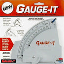 Saw Gauge - Right Tilting - quickly sets saw blades height, angle and fence - packaging and instructions
