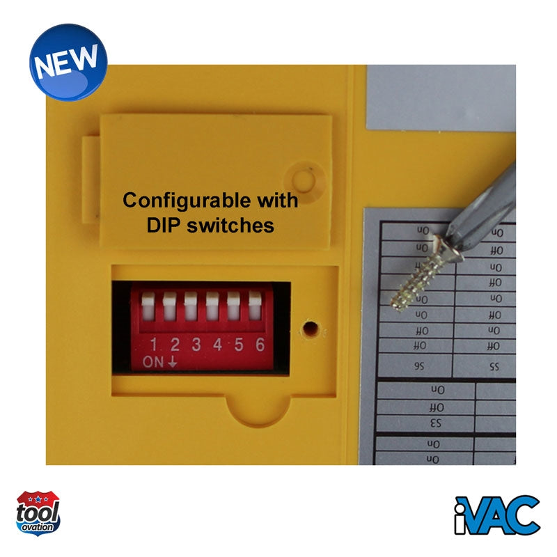 iVAC Switch Box - 230V 13A UK - example configuration using DIP switches