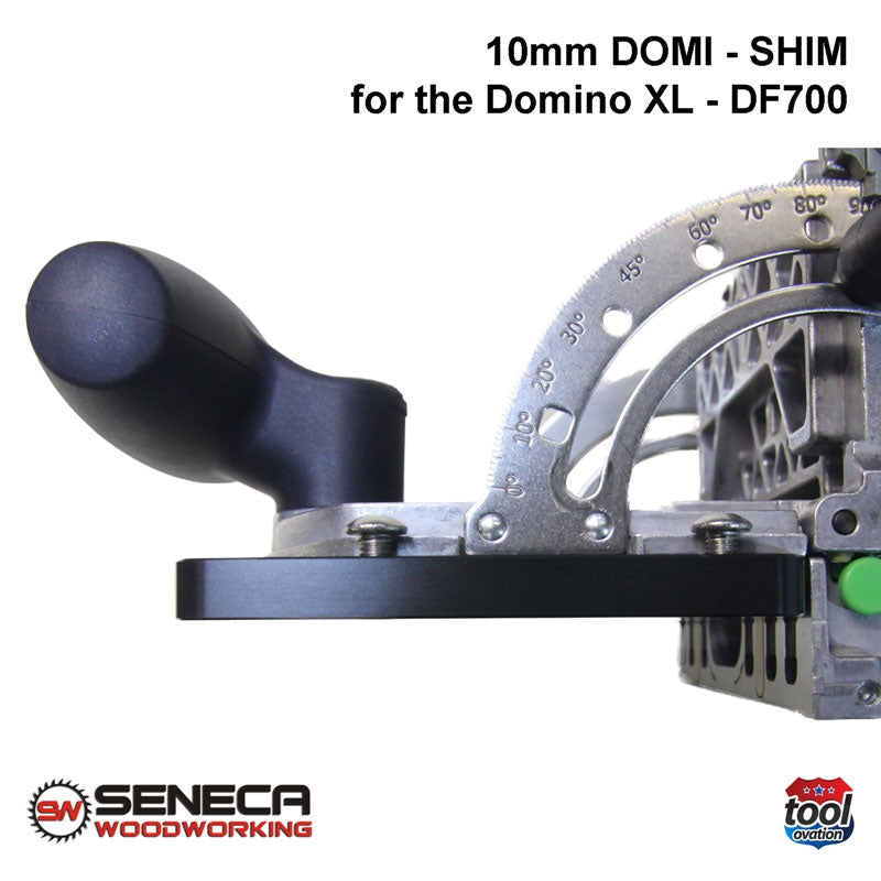 SWDS03 Seneca 10mm Domi Shim - For Festool DF700 - fitted, side view