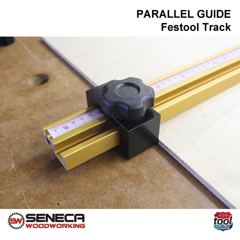 SWPG01 Seneca Parallel Guide - For Festool track guide - close up of track