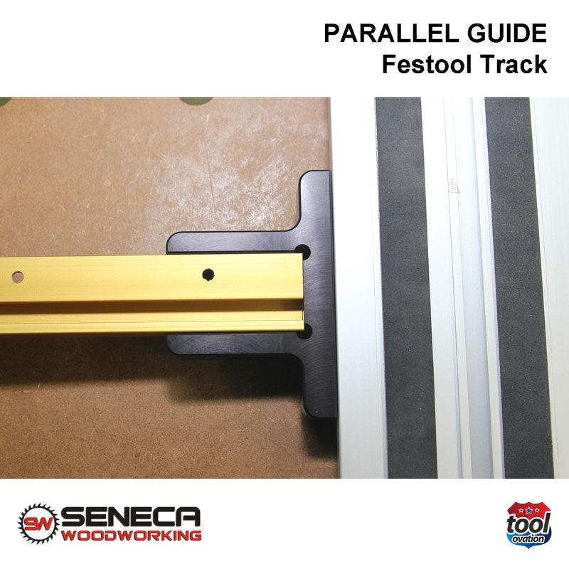 SWPG01 Seneca Parallel Guide - For Festool track guide - clamp Incra T-Track onto Festool Track
