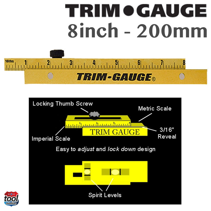 Trim Gauge - component parts, easy to adjust and lock down design