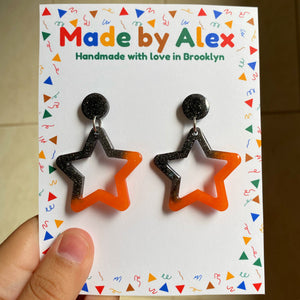 Spooky Stars Resin Earrings