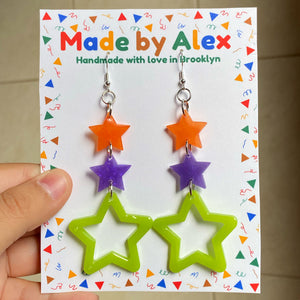 Star Tower Resin Earrings
