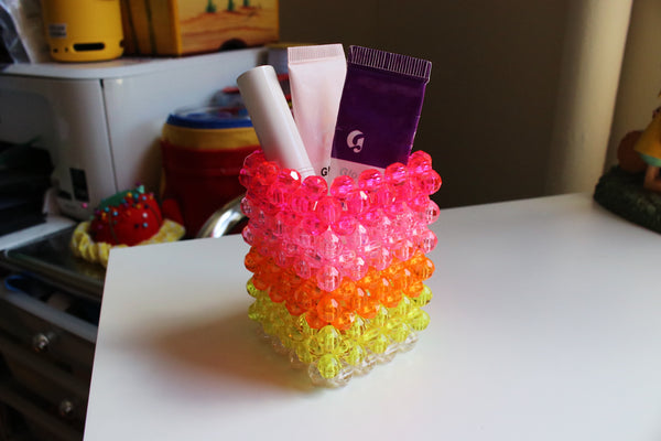 Pink Lemonade Beaded Cup