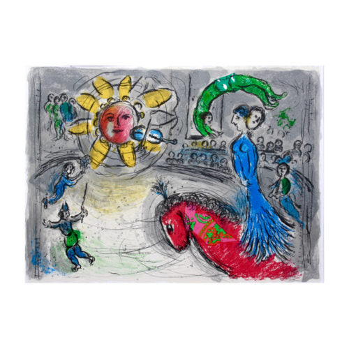 CHAGALL MARC, Soleil au cheval rouge, 1979