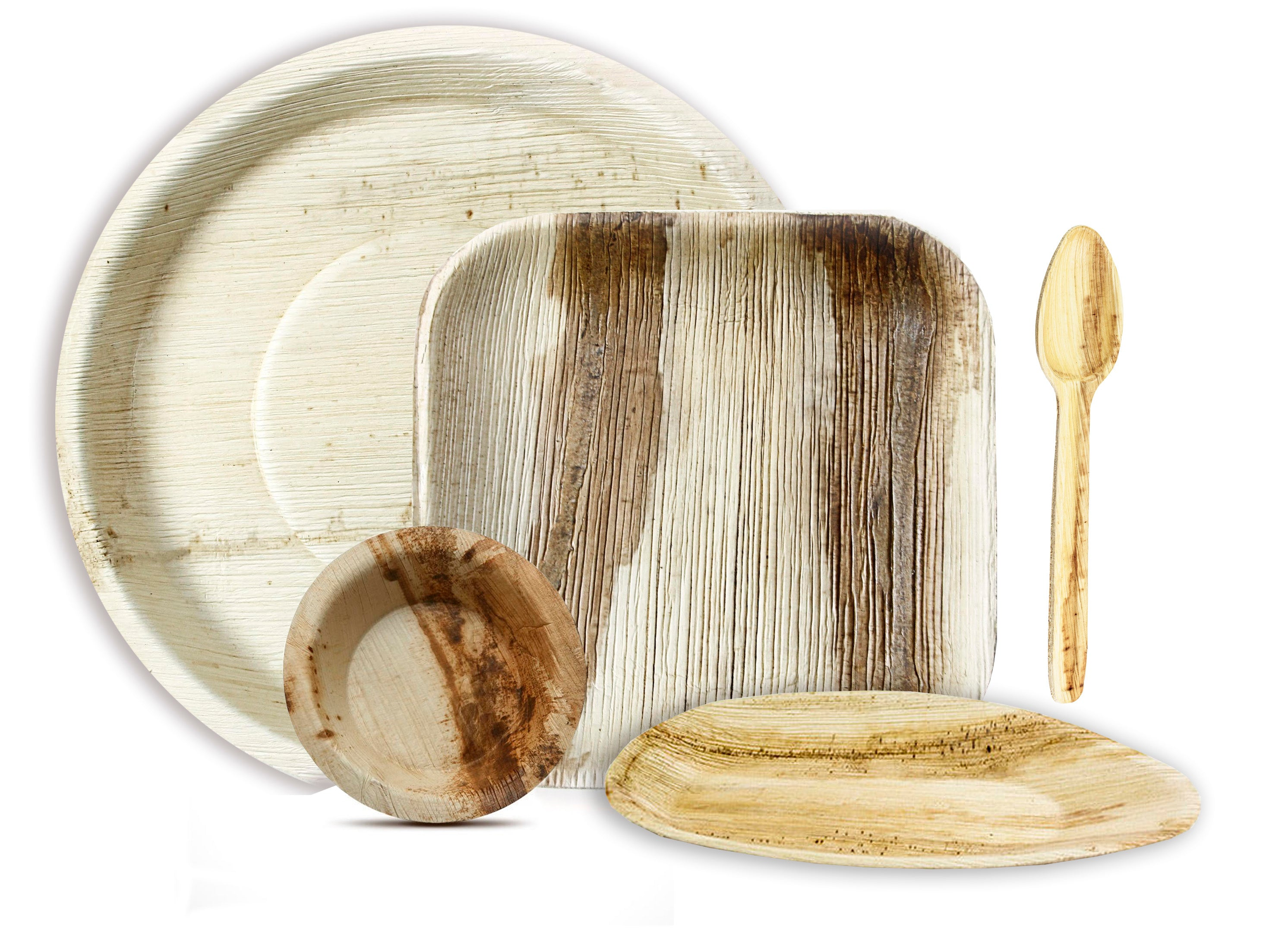 Combo Set of Areca Palm leaf Plate and bowl for 10 people .