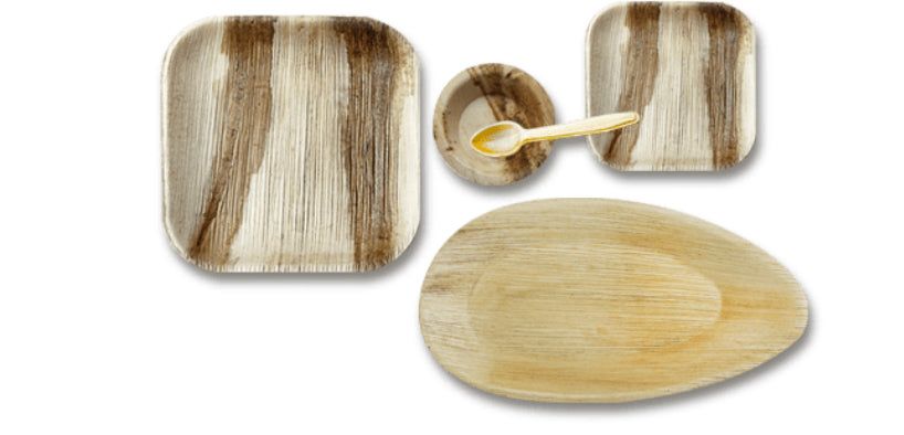 Combo Set of Areca Palm leaf Plate and bowl for 12 people .