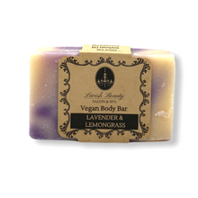 Load image into Gallery viewer, Lavender + Lemongrass Vegan Body Bar 4.8 oz.