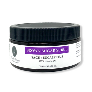 Sage & Eucalyptus Brown Sugar Body Scrub 7.5 oz.
