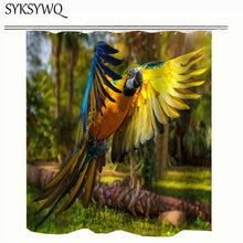 Load image into Gallery viewer, Macaw Theme Tropical Shower Curtin