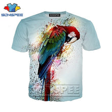 Load image into Gallery viewer, Macaw 3D Print T-shirts Parrot Unixes Plus Sizes