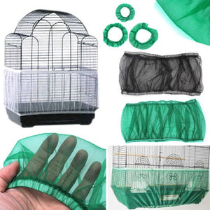 Nylon Mesh Skirt Net Easy Cleaning Seed Catcher Cage Accessories