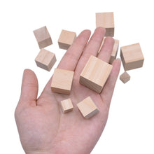 Load image into Gallery viewer, Solid Pine Wood Cubes for Parrot  Toys
