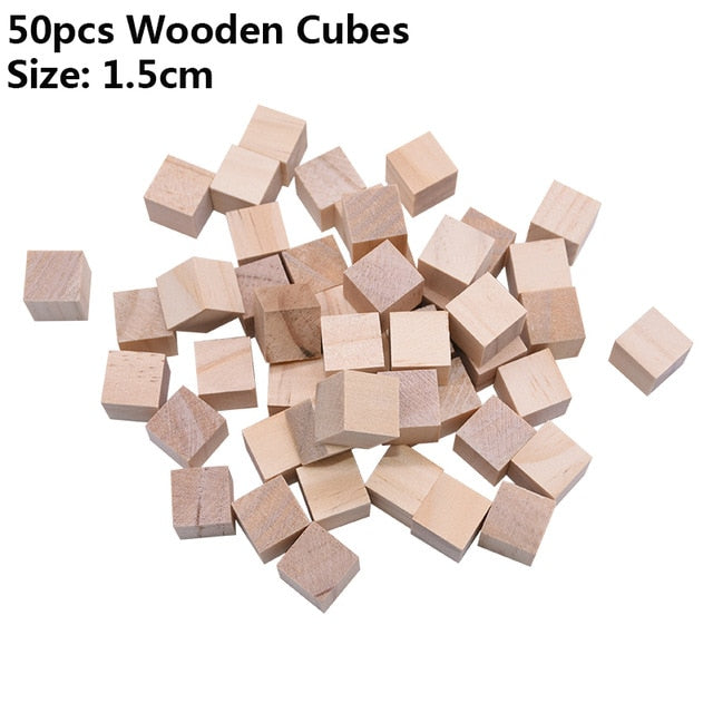 Solid Pine Wood Cubes for Parrot  Toys