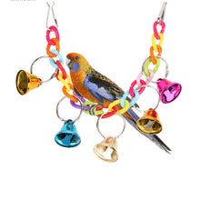 Load image into Gallery viewer, Parrot Toy Acrylic Cage Suspension Climbing Chain, Bell Toys