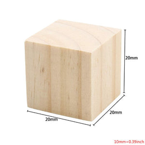 Wooden Cubes Natural Unfinished Wood Blocks for Toy Parts Pack of 20